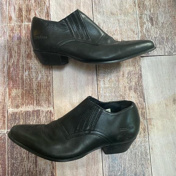 Durango Western Rodeo Themed black booties 8.5